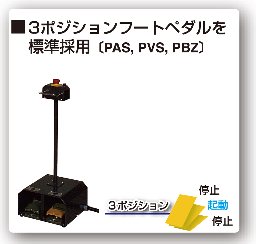 Standardized double-aciton & three-position foot pedal